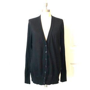 Ann Taylor LOFT Black V-Neck Cardigan Size XL